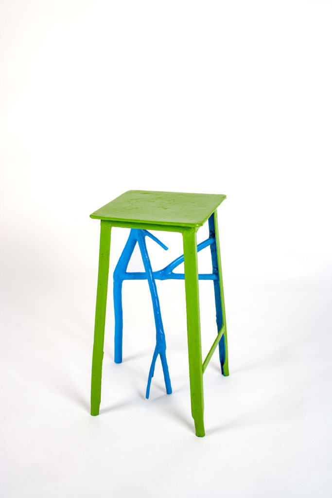 Jimmie Durham, Lonesome Jetsam, wood, steel, paint 43 x 22 x 25 cm, designed and made by Jimmie Durham, ph: Nick Ash